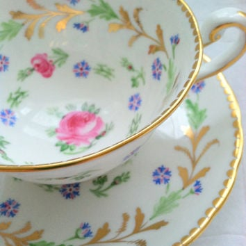 Vintage Royal Chelsea Bone China Made In England Tea Cup and Saucer Wedding, Thank You or Housewarming Gift Inspiration Tea Party