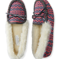 Faux Fur Trimmed Moccasin