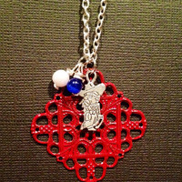 Colonel Rebel Ole Miss Necklace