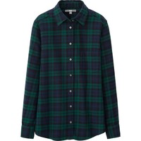 WOMEN FLANNEL CHECK LONG SLEEVE SHIRT | UNIQLO