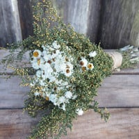 Simple COUNTRY Bridesmaid Dried Flower Bouquet - Perfect for your Rustic Wedding
