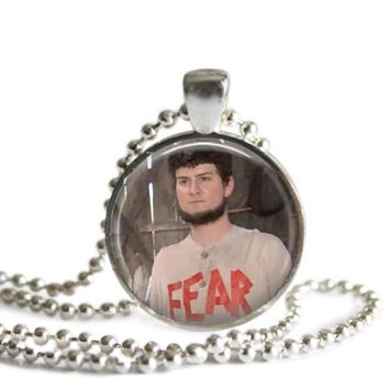 The Office Mose Shrute 1 Inch Silver Plated Pendant Necklace Handmade