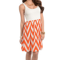 MOVING FORWARD CHEVRON DRESS