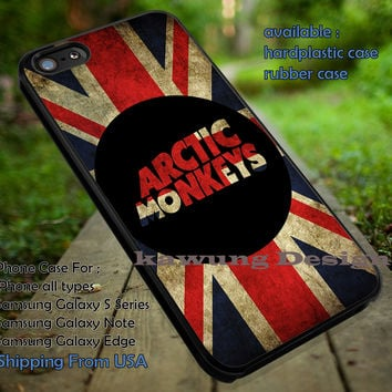 Artic monkey england vintage flag, band, england, arc, arctic monkeys, logo band, case/cover for iPhone 4/4s/5/5c/6/6+/6s/6s+ Samsung Galaxy S4/S5/S6/Edge/Edge+ NOTE 3/4/5 #music #arc ii