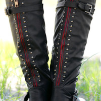 Studded Riding Boots