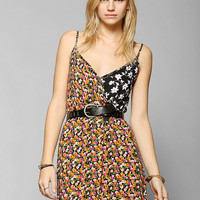 Urban Renewal Patchwork Surplice Dress - Urban Outfitters