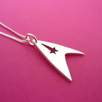 Star Trek Sterling Silver Pendant by starbrightsilver on Etsy
