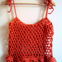 Festival Top Crochet Top Loose Top Crop Top Gypsy Top Mesh Top Swimsuit Cover Up  Bohemian Top Hippie Style Women Summer Tops