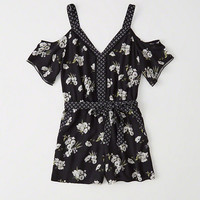 Womens Cold-Shoulder Romper | Womens Dresses & Rompers | Abercrombie.com