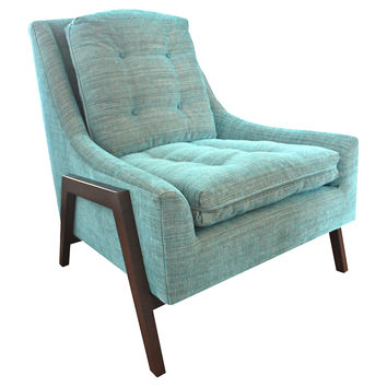 Grace Tufted Chair, Teal, Accent & Occasional Chairs