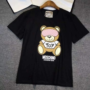 Moschino Women Fashion Bear Tunic Shirt Top Blouse