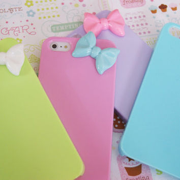SUPER SALE: IPHONE 5 Mini Bowtie Candy Colors Rainbow Cell Phone Case