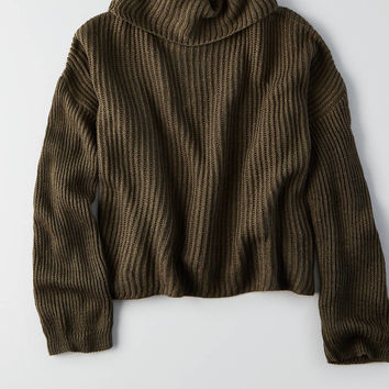 Don't Ask Why Turtleneck Sweater, Olive