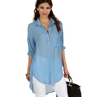 Lt. Blue Upgrade You Tunic Top