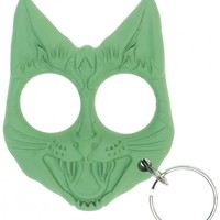PORK GIRL GANG ALLEY CAT GOUGER KEYCHAIN GREEN - Sourpuss Clothing