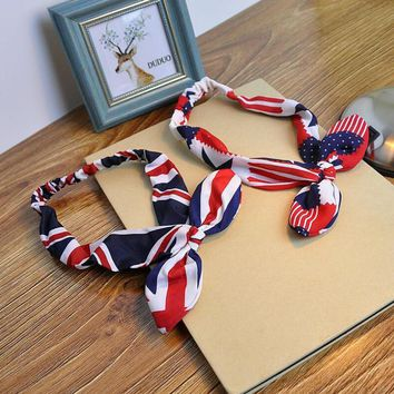 american flag hairband rabbit ears knotted headband 2