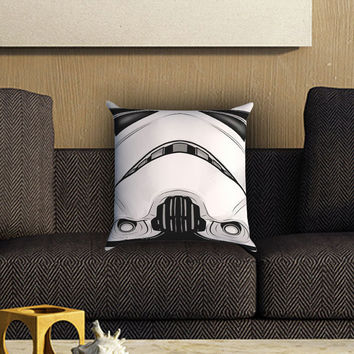 Storm Trooper , Star Wars Pillow Cover , Custom Zippered Pillow Case One Side Two SIde
