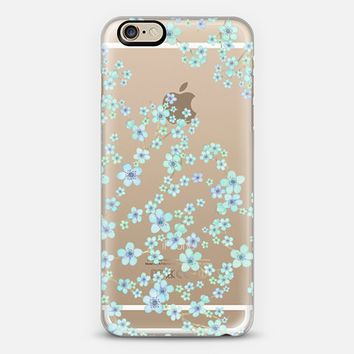 blue small flowers iPhone 6s case by Julia Grifol Diseñadora Modas-grafica | Casetify