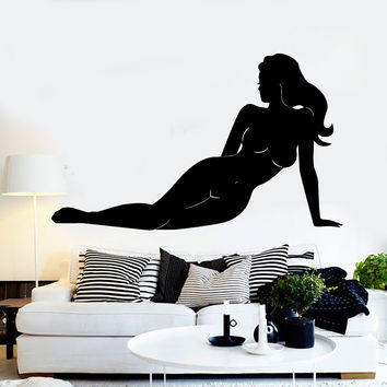 Wall Sticker Vinyl Decal Silhouette Naked Sexy Girl Nude Art Murals Unique Gift (ig352)