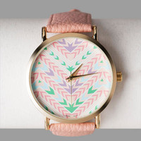 UTICA TRIBAL PRINT WATCH