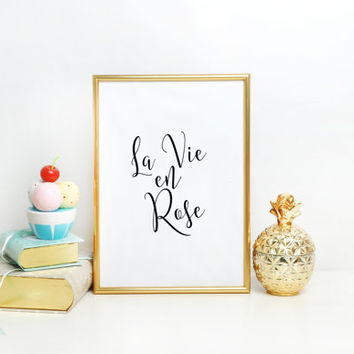 Motivational Poster, Inspirational Poster, Pinterest Art, Motivational Print, La Vie En Rose, Audrey Hepburn Quotes, Movie Quotes Poster