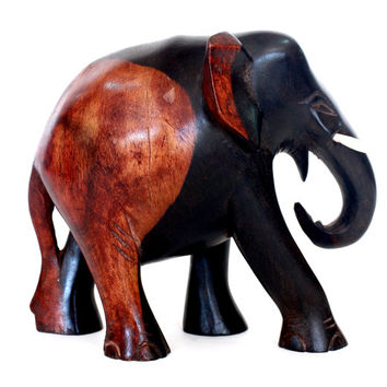 Exclusive Elephant Figurine - Hand Calamander wood carved from old Sri Lanka technology