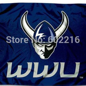Western Washington WWU Vikings College Large Outdoor Flag 3ft x 5ft Football Hockey Baseball USA Flag