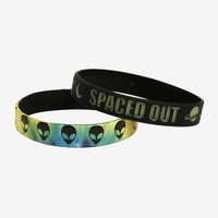 Spaced Out Alien Rubber Bracelet Set