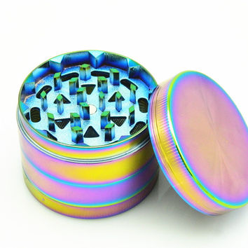 Herb Grinder - Dazzle Color -  52 mm - 4 Parts Metal Zinc