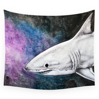 Society6 Great White Shark II Wall Tapestry
