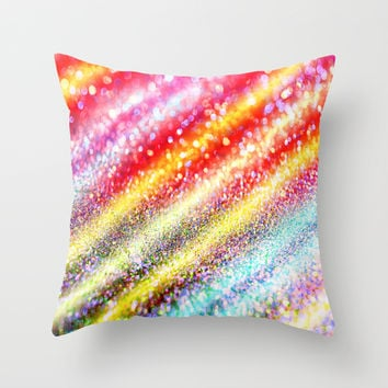 glitter stripes Throw Pillow by Haroulita