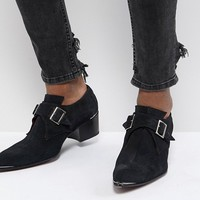 Jeffery West Sylvian Double Monk Suede Shoes at asos.com