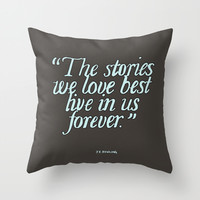 Harry Potter Quote #2 Throw Pillow by Marcela Caraballo