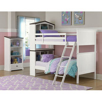 Homelegance Lark Twin/Twin Bunk Bed In White