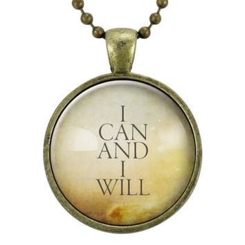 I Can And I Will Inspirational Quote Necklace
