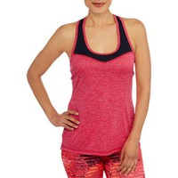 Avia Women's Active Racerback Tank with Mesh Colorblock - Walmart.com