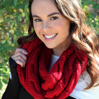 Snuggle Up Infinity Scarf Red