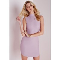 Sleeveless Curve Hem Bodycon Dress Mauve - Dresses - Bodycon Dresses - Missguided
