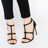 Daisy Street Cynthia Black Heeled Sandals