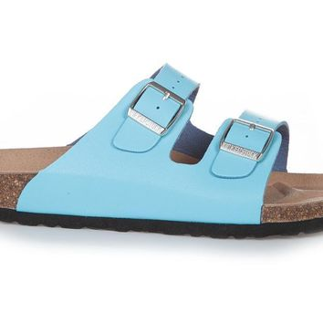 Birkenstock Arizona Soft Footbed Nubuck Leather Turquoise 1011259 Sandals