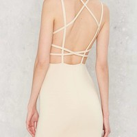 Grid and Bare It Bodycon Dress