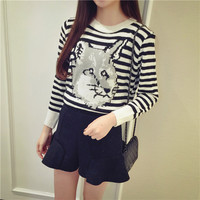 Fox and Strips Sweater