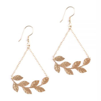 Leaf Crown Earrings