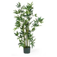 Nearly Natural 4 ft. Bamboo Silk Plant   Hayneedle