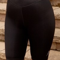 Women's Plus Size Workout Clothing - Power Leg Bike Shorts Style #4445