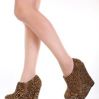 Leopard Print Velvet Closed Toe Platform Ankle Bootie Wedges @ Amiclubwear Wedges Shoes Store:Wedge Shoes,Wedge Boots,Wedge Heels,Wedge Sandals,Dress Shoes,Summer Shoes,Spring Shoes,Prom Shoes,Women's Wedge Shoes,Wedge Platforms Shoes,floral wedges,Fashio
