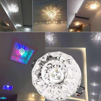 3W LED Modern Crystal Ceiling Light Fixture Lamp Lighting  hot selling