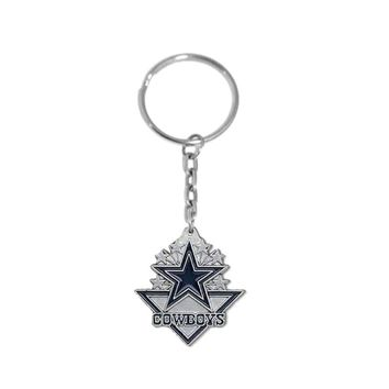 Fishhook Rhodium plated Dallas Cowboys Men Keychain