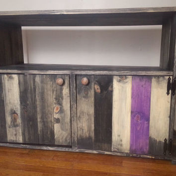 Rustic / Distressed TV Stand / Reclaimed Wood