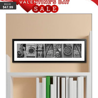 Architectural Elements Black and White Family Name Prints